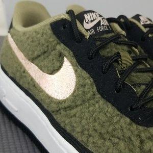 Nike Air Force 1 Shearling QS (GS) YouthWomens NWT